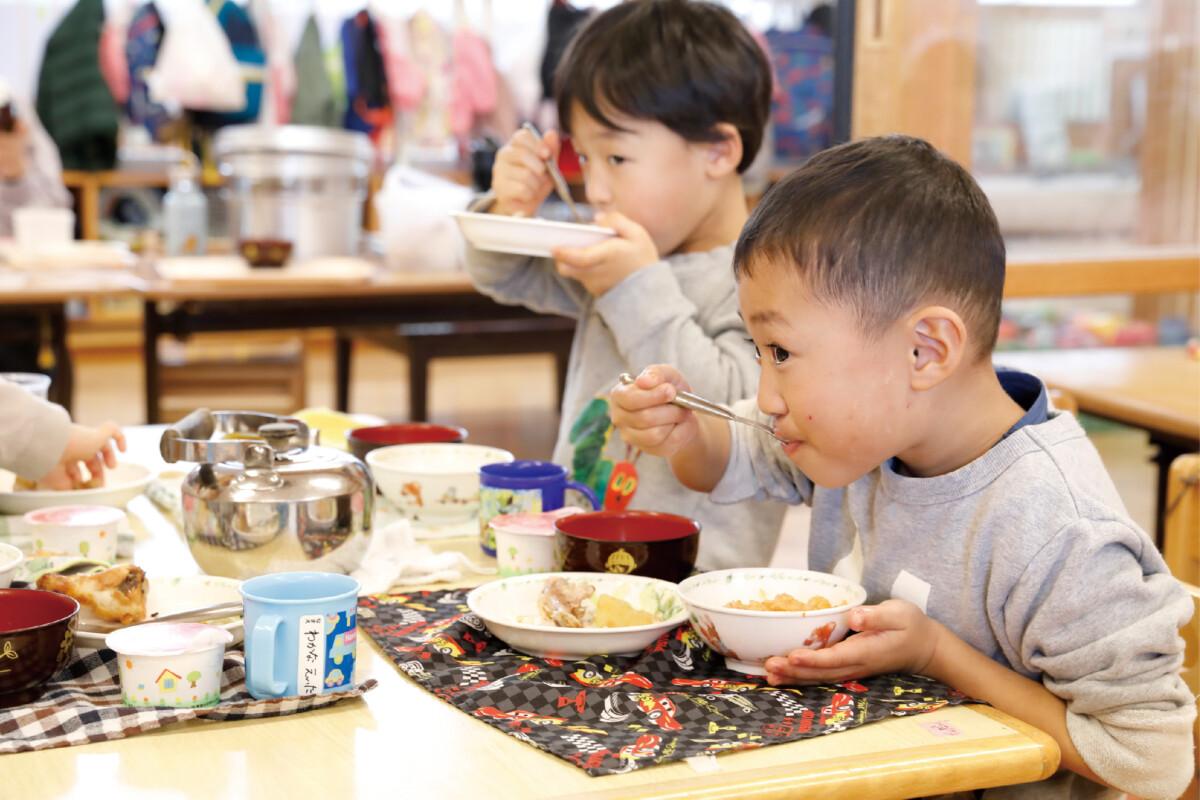 食べ残しの減少とともに、感染症による欠席も減りました